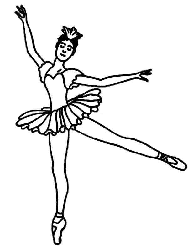 Dance, : Ballet Dance Showtime Coloring Page