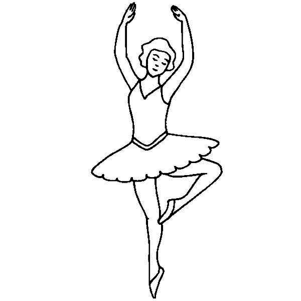 Dance, : Ballet Dance Style Coloring Page