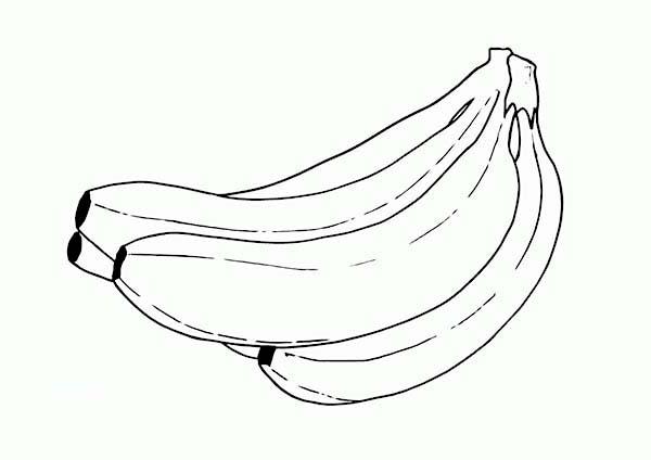 Banana, : Banana Coloring Page