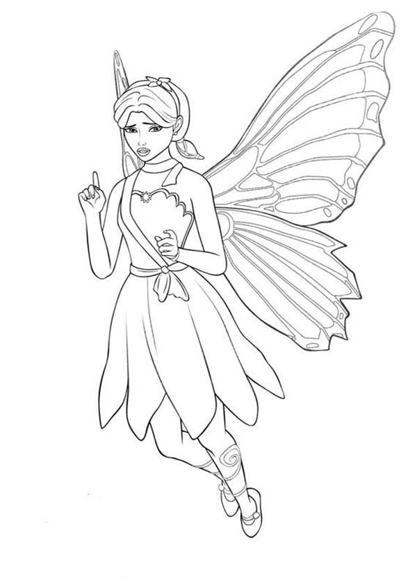 Barbie Doll, : Barbie Doll Coloring Page