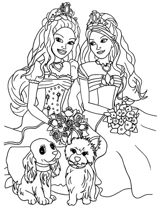 Barbie Doll, : Barbie Doll and the Diamond Castle Coloring Page