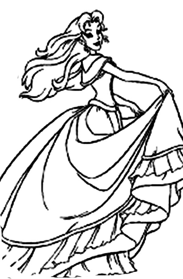 Barbie Princess, : Barbie Princess Like Her New Dress Coloring Page