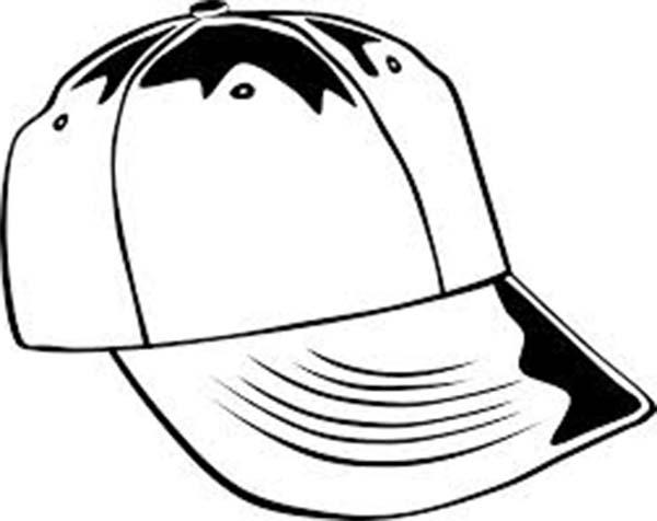 Baseball Cap, : Baseball Cap Coloring Page for Kids