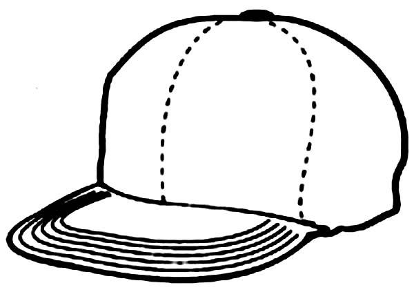 Baseball Cap, : Baseball Cap Coloring Page