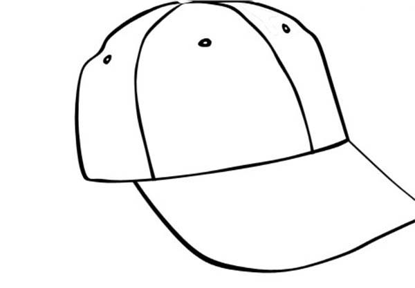 Baseball Cap, : Baseball Cap Picture Coloring Page