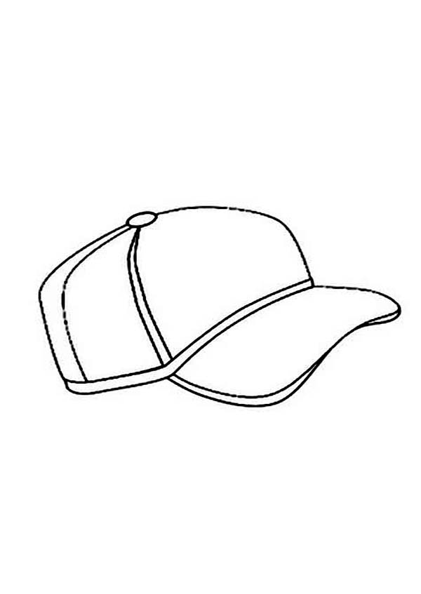 Baseball Cap, : Baseball Cap for Present Coloring Page