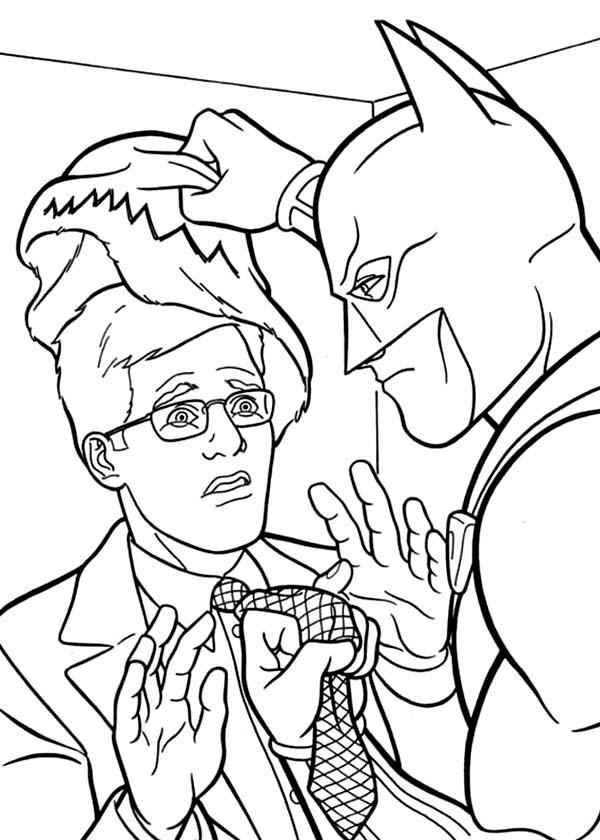 Batman, : Batman Catch a Criminal Coloring Page