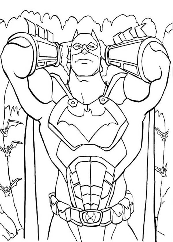 Batman, : Batman is Having a Headache Coloring Page