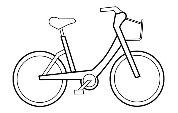 Bicycle, : Bicycle Coloring Page