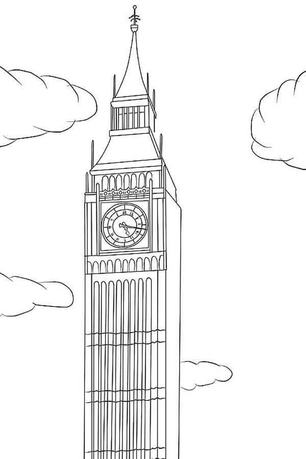 Big Ben, : Big Ben is in London Coloring Page