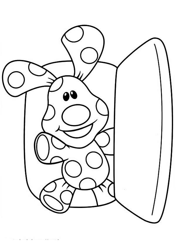 Blues Clues, : Blues Clues Came Out from Refrigerator Coloring Page