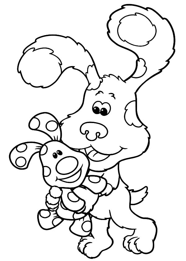 Blues Clues, : Blues Clues Holding Magenta Coloring Page