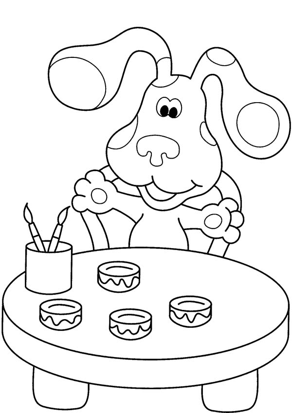Blues Clues, : Blues Clues Love to Paint Coloring Page