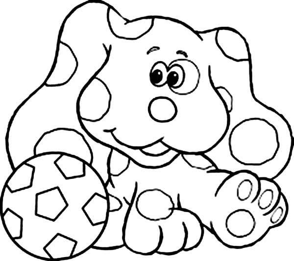 Blues Clues, : Blues Clues Playing Football Coloring Page