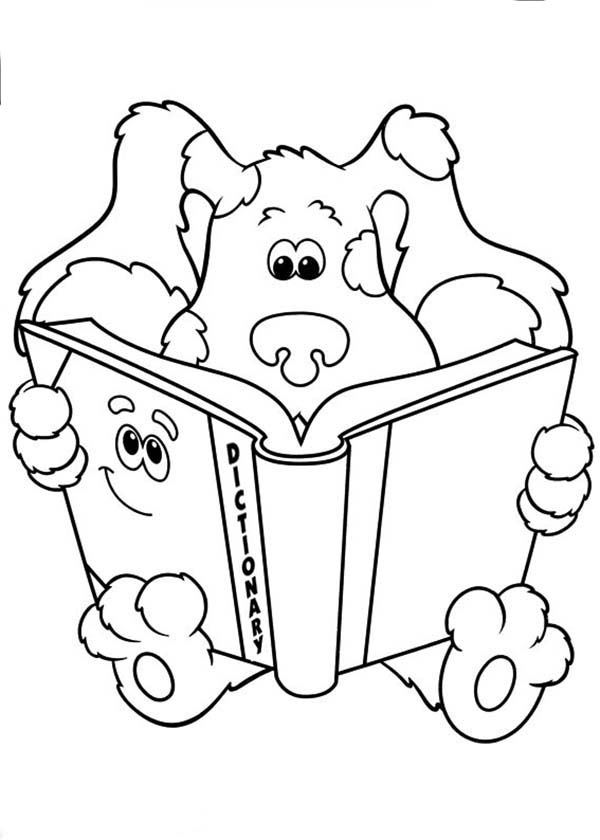 Blues Clues, : Blues Clues Read a Dictionary Coloring Page