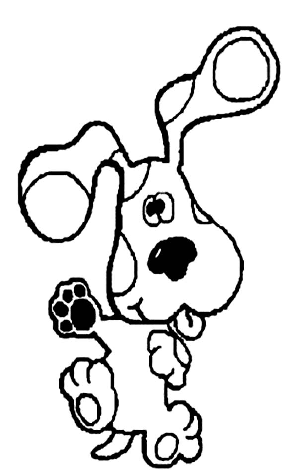 Blues Clues, : Blues Clues Silly Face Coloring Page