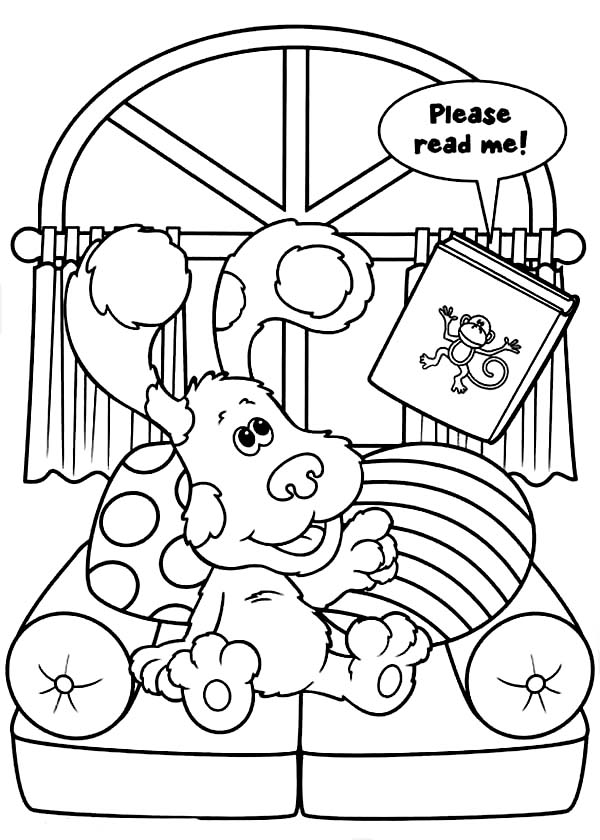 Blues Clues, : Blues Clues Want to Sleep Coloring Page
