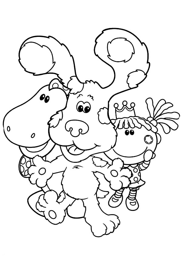 Blues Clues, : Blues Clues and Friends Coloring Page