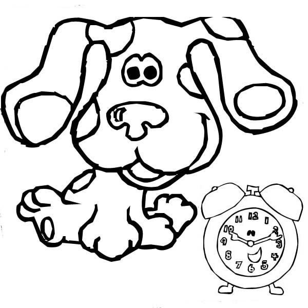 Blues Clues, : Blues Clues and Tickety Tock Coloring Page