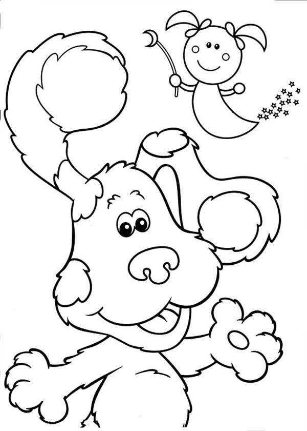 Blues Clues, : Blues Clues and a Little Fairy Coloring Page