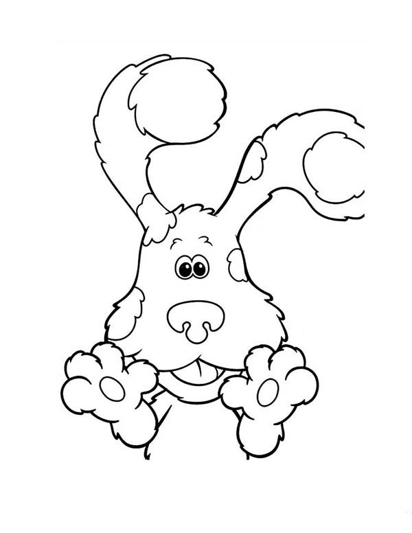 Blues Clues, : Blues Clues is Smiling Coloring Page