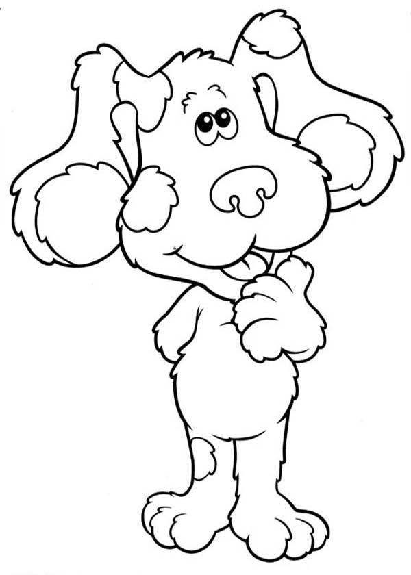 Blues Clues, : Blues Clues is Thinking Coloring Page