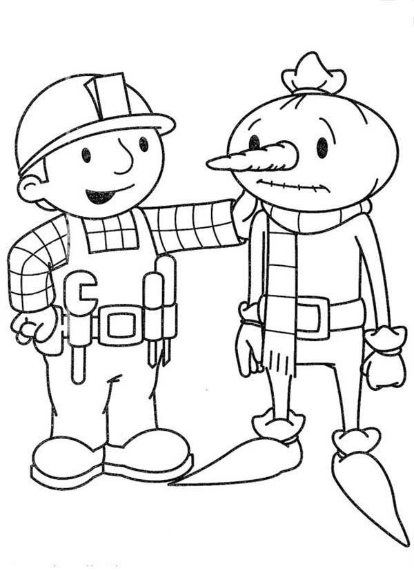 Bob the Builder, : Bob the Builder Cheer Spud Up Coloring Page