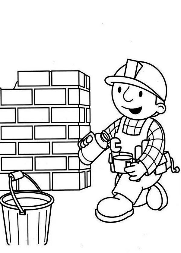 Bob the Builder, : Bob the Builder Coffee Break Coloring Page