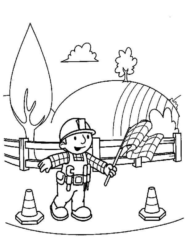 Bob the Builder, : Bob the Builder Main Character Coloring Page