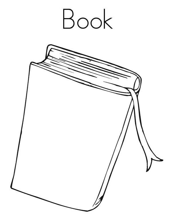 Books, : Book Bundle Coloring Page