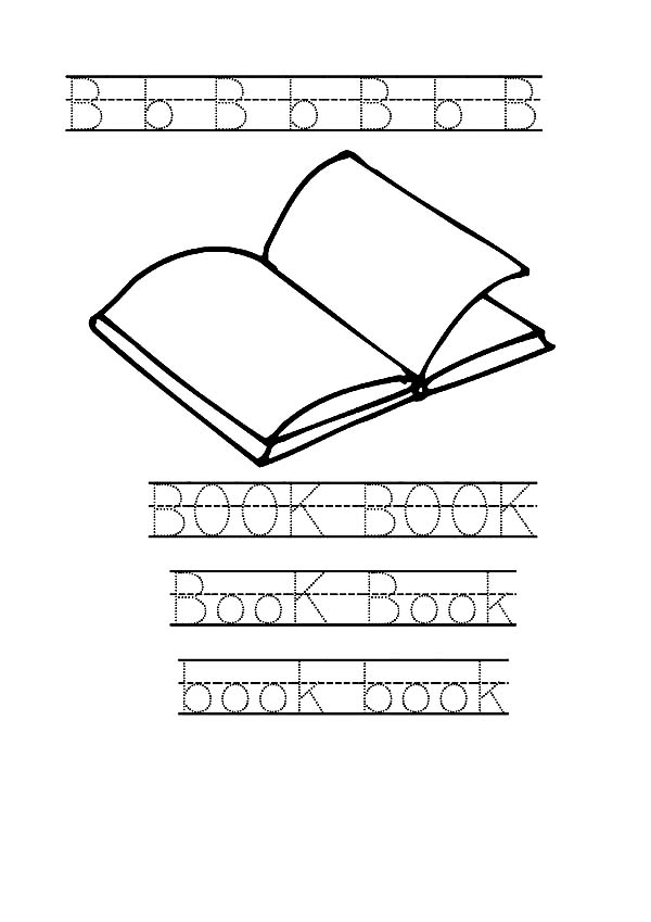 Books, : Book Worksheets for Preschool Coloring Page