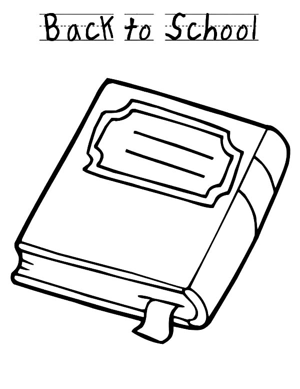Books, : Book for Back to School Coloring Page