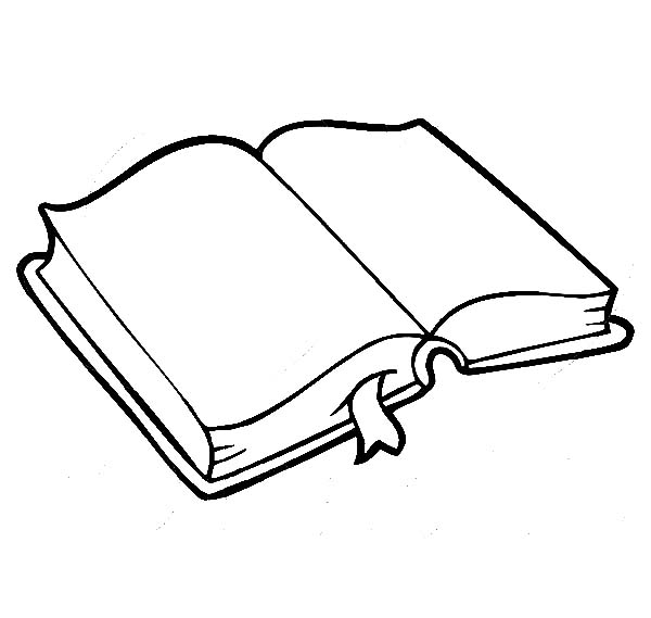 Books, : Book for Preschool Kids Coloring Page