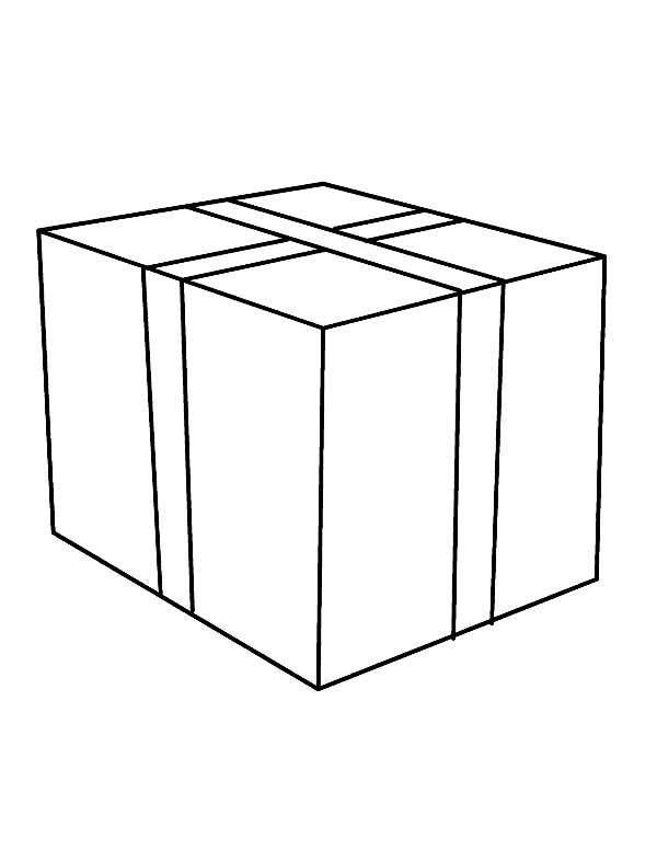 Box, : Box Coloring Page