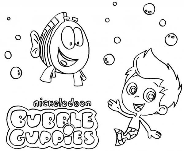 Bubble Guppies, : Bubble Guppies Nickelodeon Coloring Page