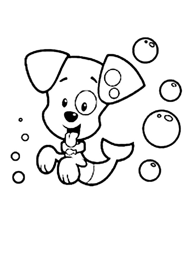 Bubble Guppies, : Bubble Puppy from Bubble Guppies Coloring Page