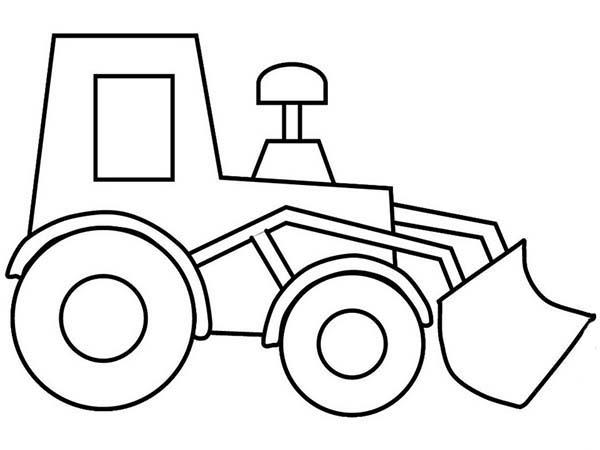 Bulldozer, : Bulldozer Picture Outline Coloring Page
