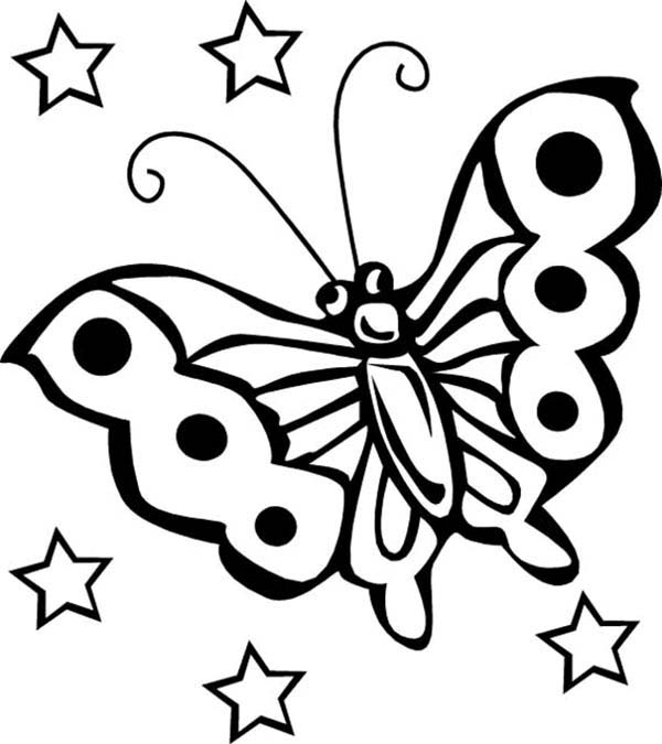 Bugs, : Butterfly is Species of Bugs Coloring Page