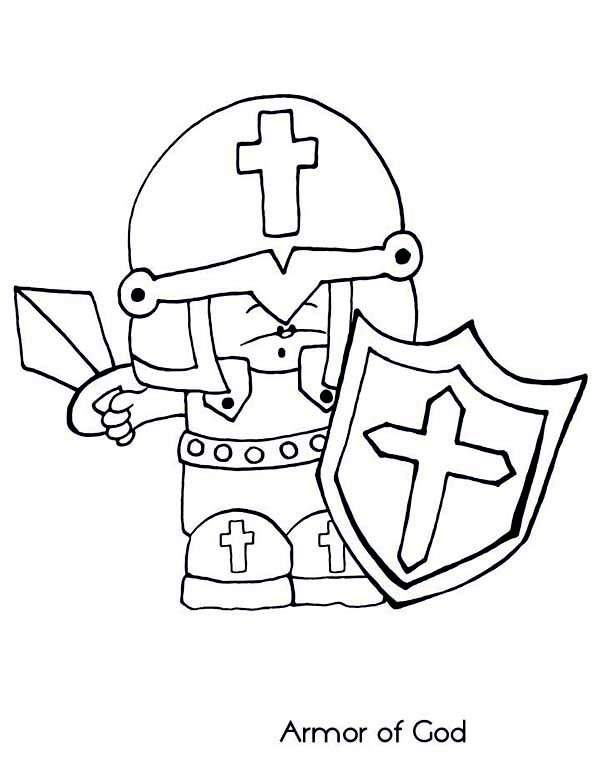Armor of God, : Chibi Armor of God Coloring Page