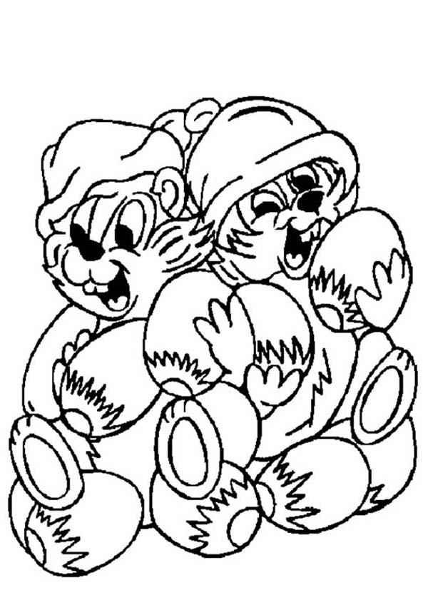 Chip and Dale, : Chip and Dale Big Feast Coloring Page