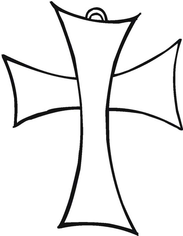 Cross, : Christian Cross Coloring Page