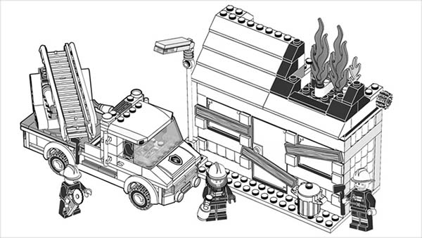 City, : City Coloring Page