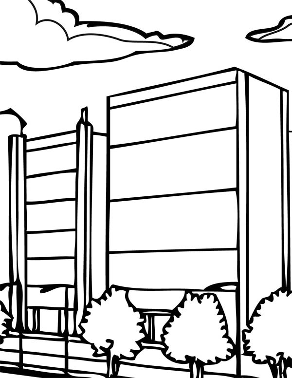 City, : City Main Street Coloring Page