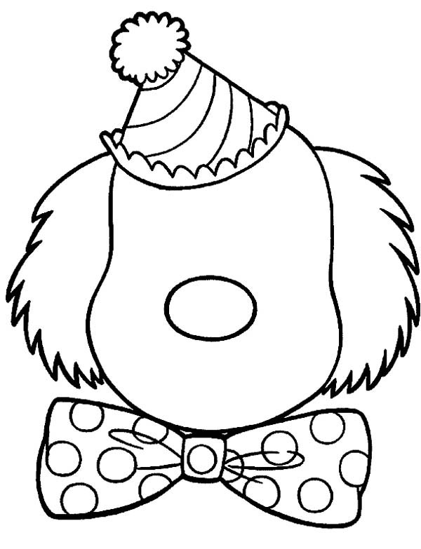 Face, : Clown Face Coloring Page
