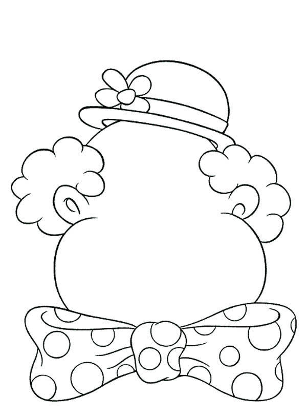 Face, : Clown Type of Face Coloring Page