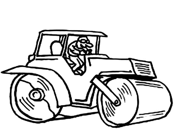 Construction, : Construction Work Coloring Page
