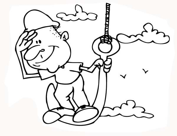Construction, : Construction Worker Supervisor Coloring Page