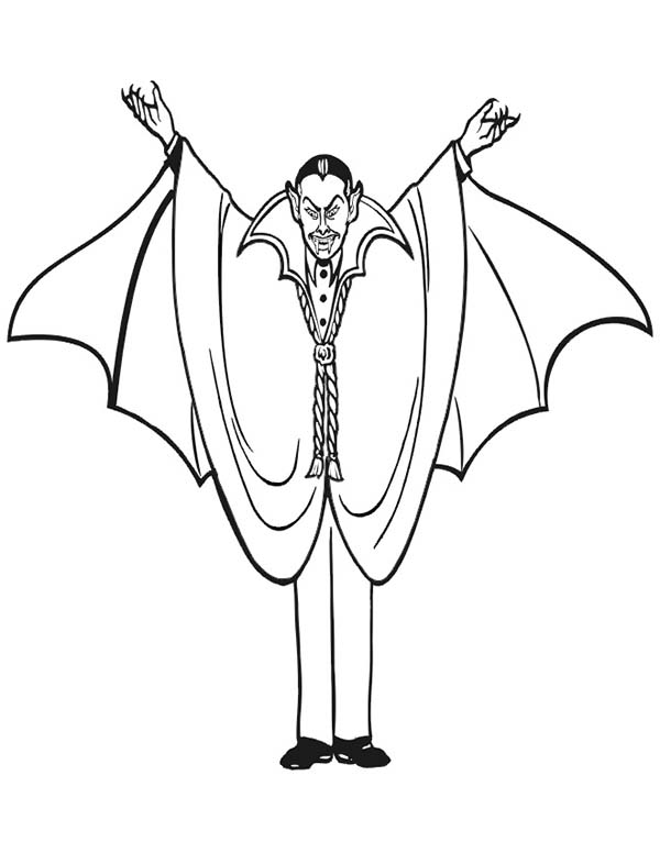 Vampire, : Count Dracula the Vampire Coloring Page