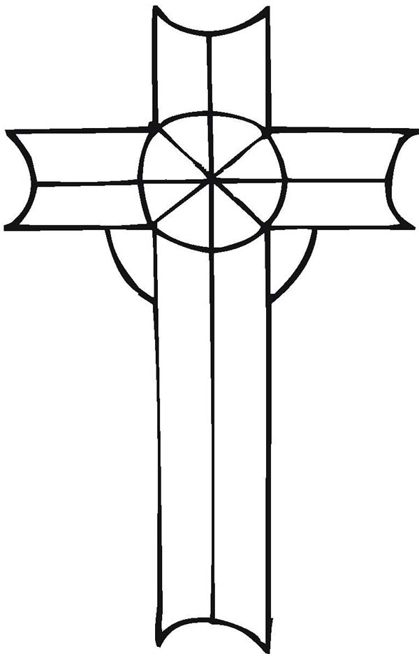 Cross, : Cross Image Coloring Page