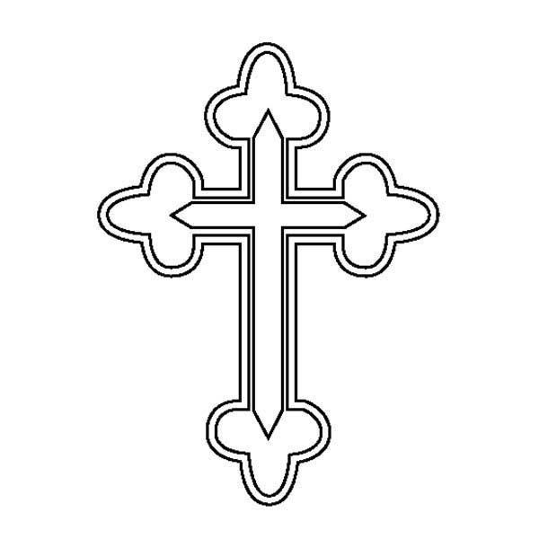 Cross, : Cross Symbol Coloring Page